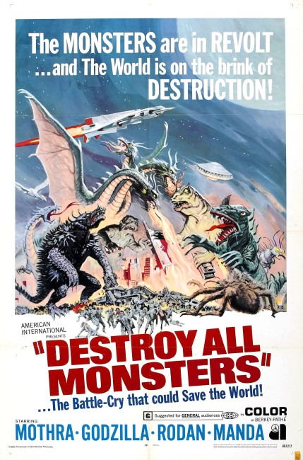 Destroy All Monsters (1968) poster