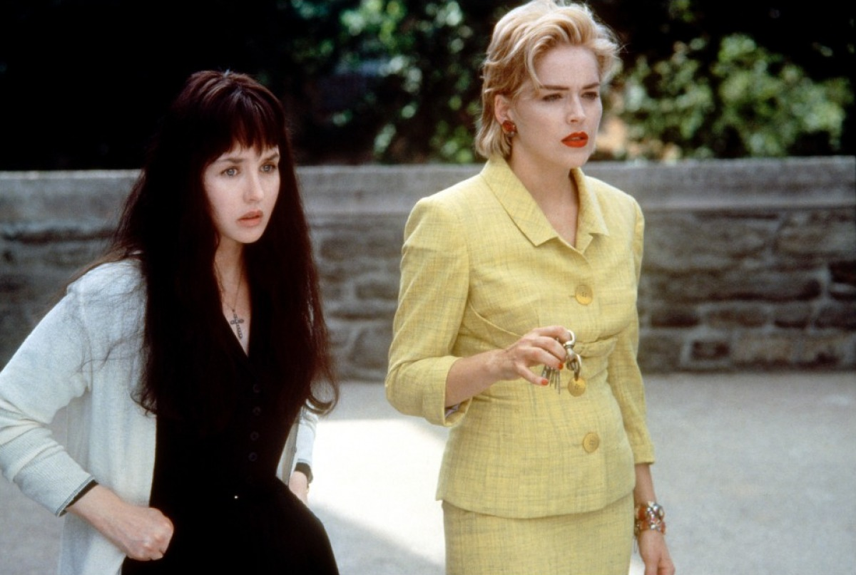 (l to r) Wife Isabelle Adjani and mistress Sharon Stone conspire to murder an abusive husband in Diabolique (1996)