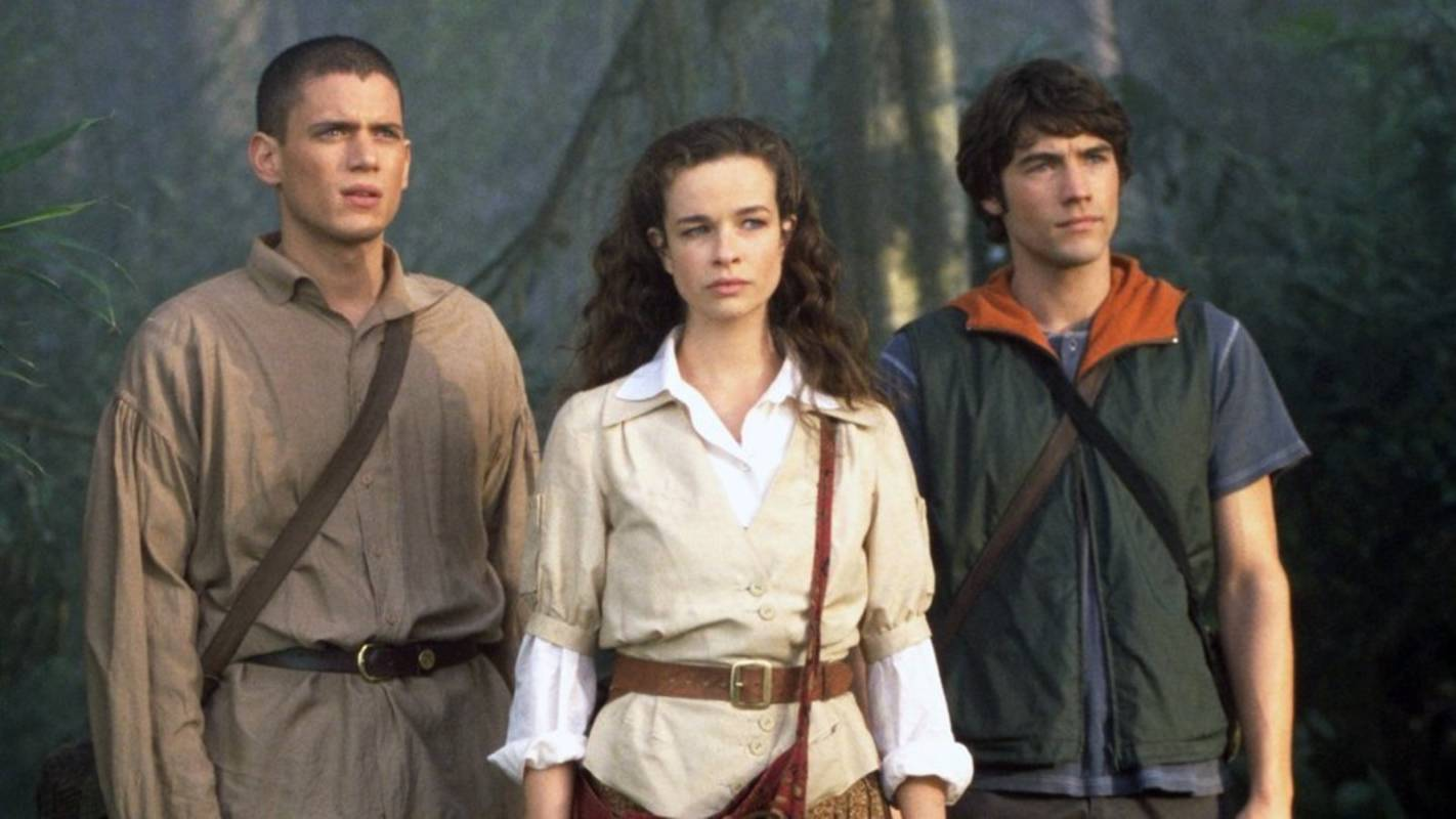 Brothers Wentworth Miller and Tyron Leitso with Katie Carr in Dinotopia (2002)