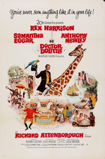Doctor Dolittle (1967) poster