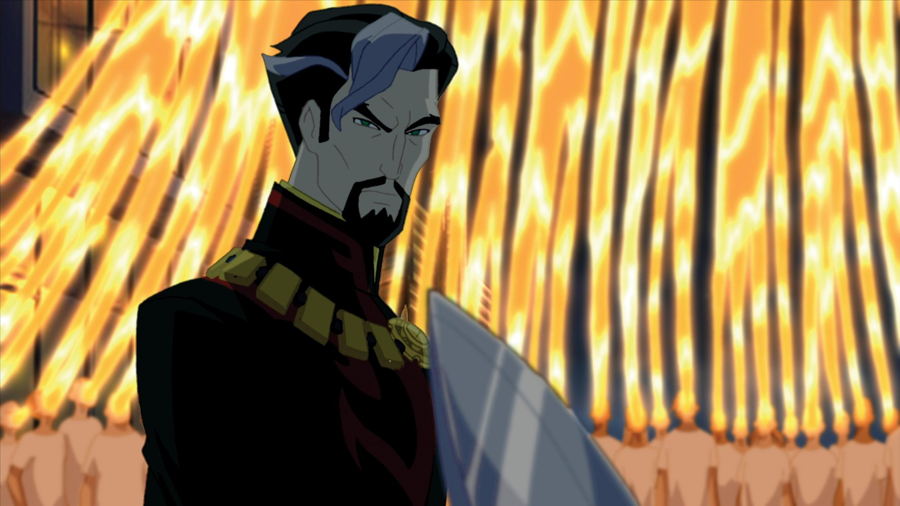 Doctor Strange, the Sorcerer Supreme (voiced by Bryce Johnson) in Doctor Strange (2007)