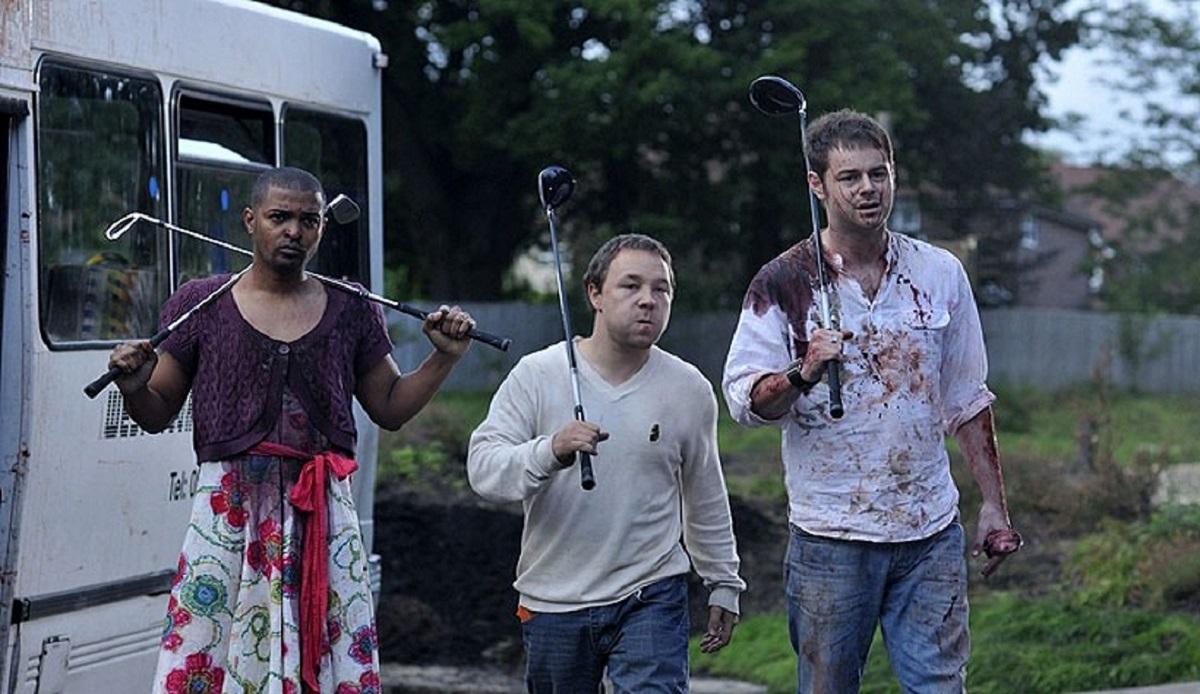 Noel Clarke, Stephen Graham and Danny Dyer in Doghouse (2009)