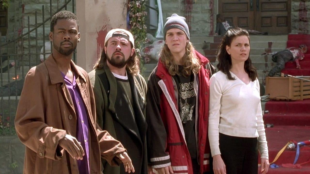 Rufus (Chris Rock), Silent Bob (Kevin Smith), Jay (Jason Mewes) and Bethany Sloane (Linda Fiorentino) in Dogma (1999)
