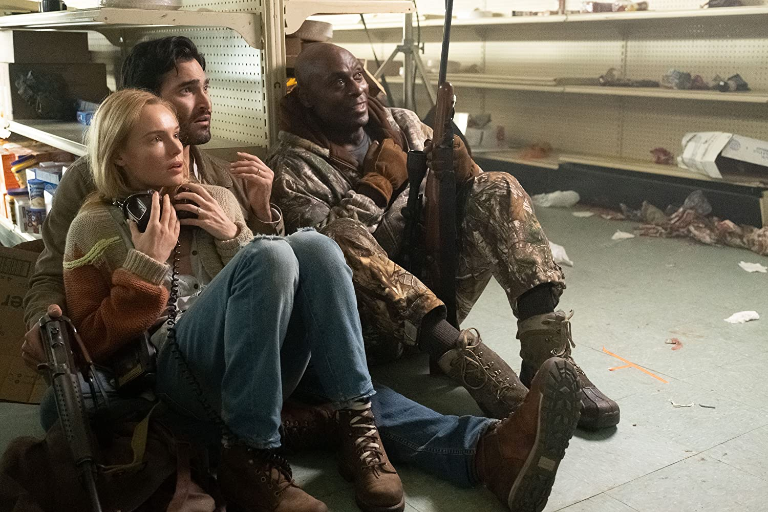 Wife Kate Bosworth, husband Tyler Hoechlin and Lance Reddick in The Domestics (2018)