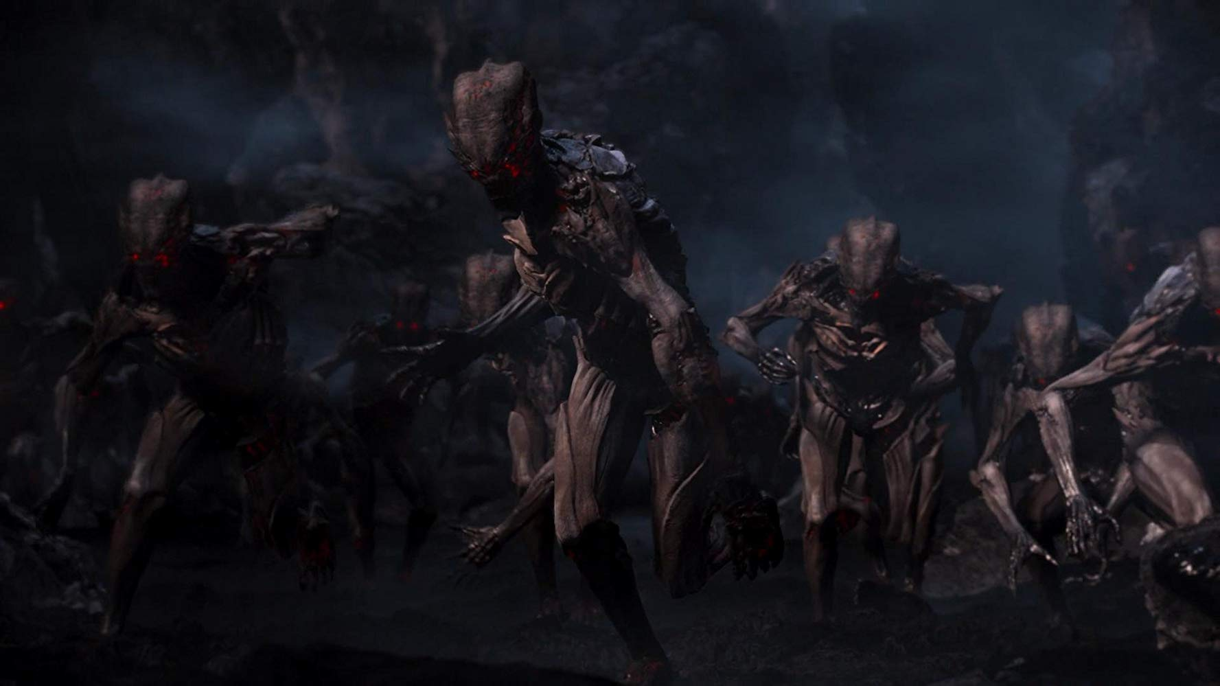Hordes of demons in Doom: Annihilation (2019)