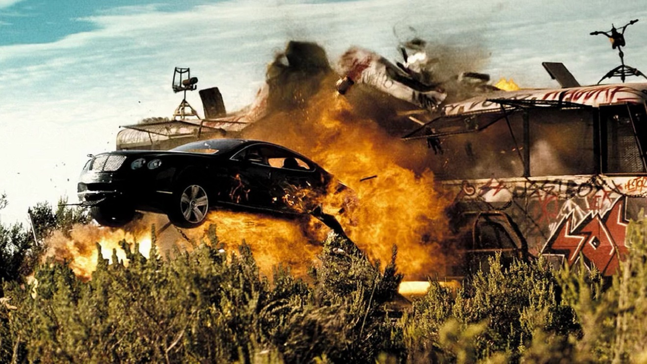 The Bentley in action in Doomsday (2008)
