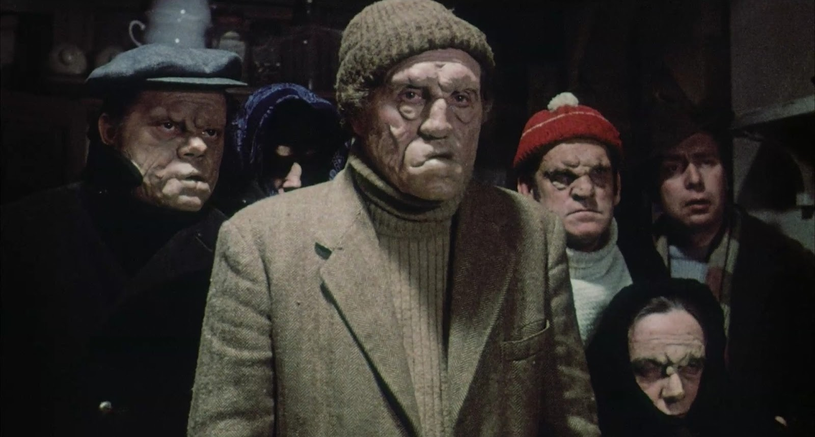 Villagers suffering from acromegaly in Doomwatch (1972)