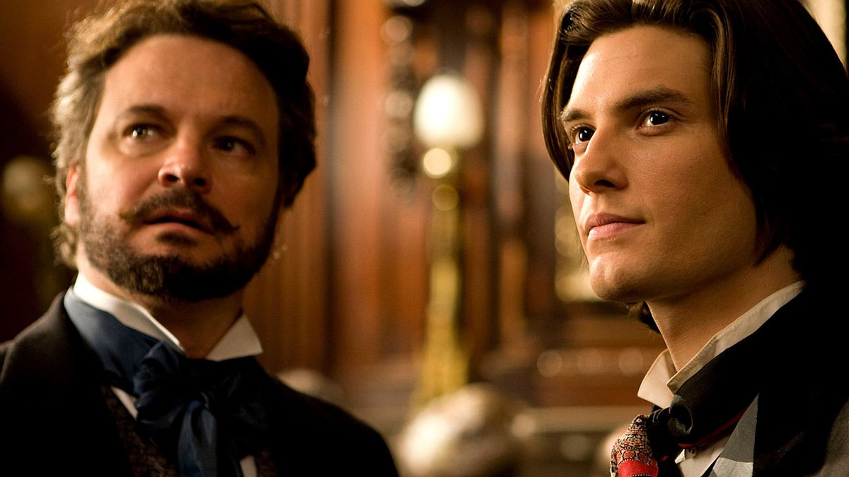 (l to r) Henry Wotton (Colin Firth) introduces Dorian Gray (Ben Barnes) to the world of pleasures in Dorian Gray (2009)