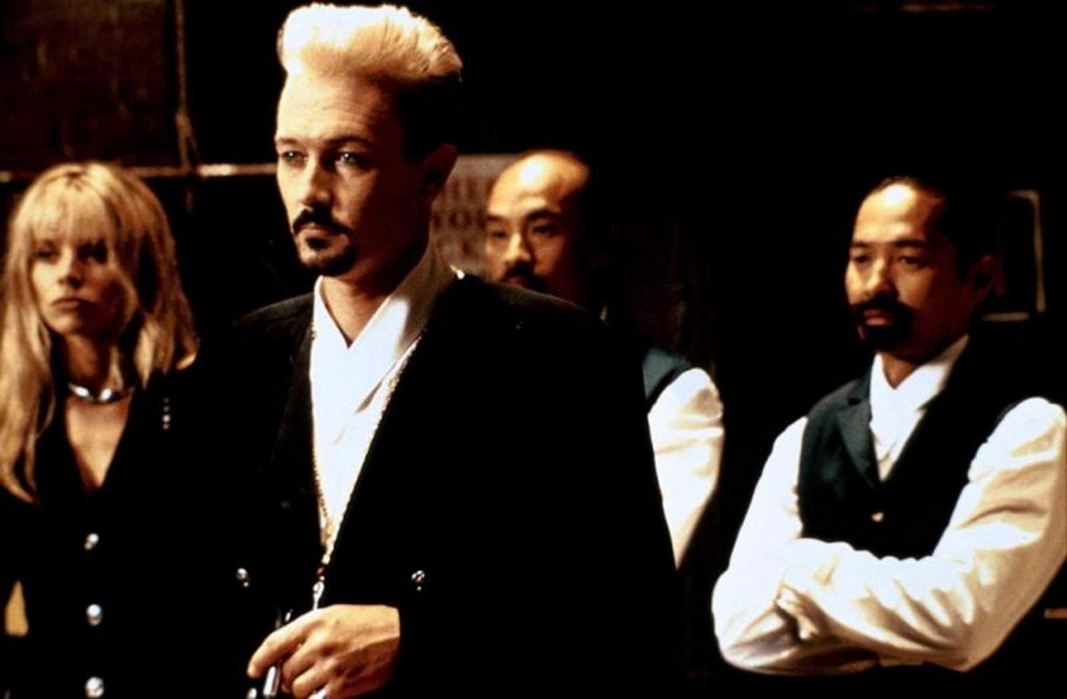 Robert Patrick, Kristina Malandro Wagner, Al Leong and Jeff Imadaa in Double Dragon (1994)