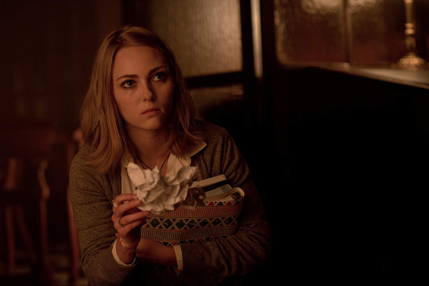 AnnaSophia Robb investigates mysterious happenings at the Blackwood School in Down a Dark Hall (2018)