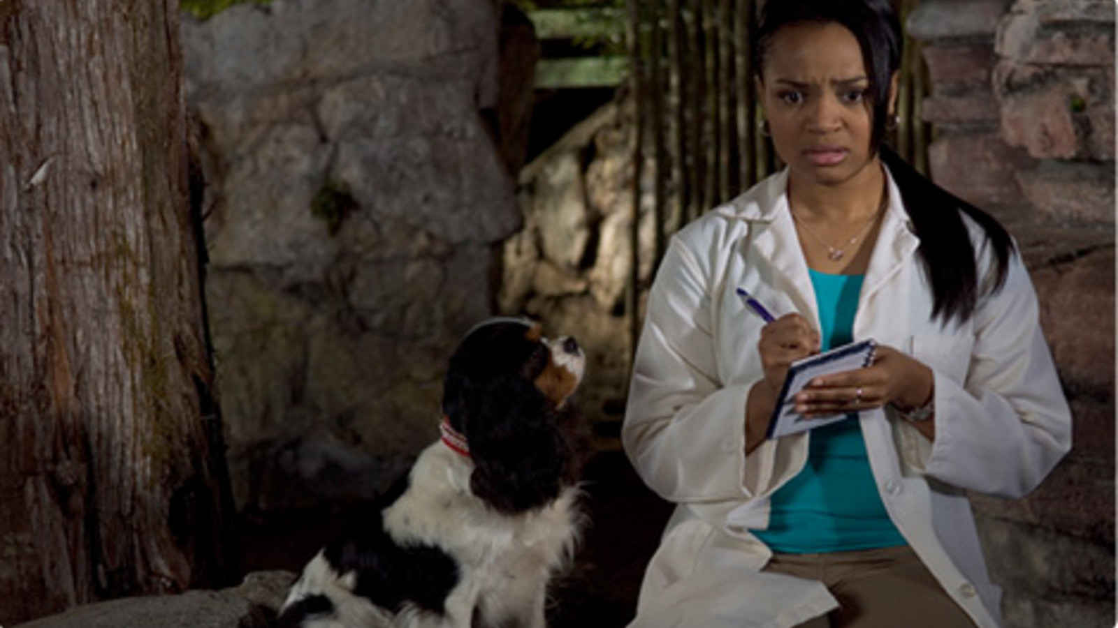 Maya Dolittle (Kyla Pratt) attempts to work out problems with the President's dog in Dr Dolittle: Tail to the Chief (2008)
