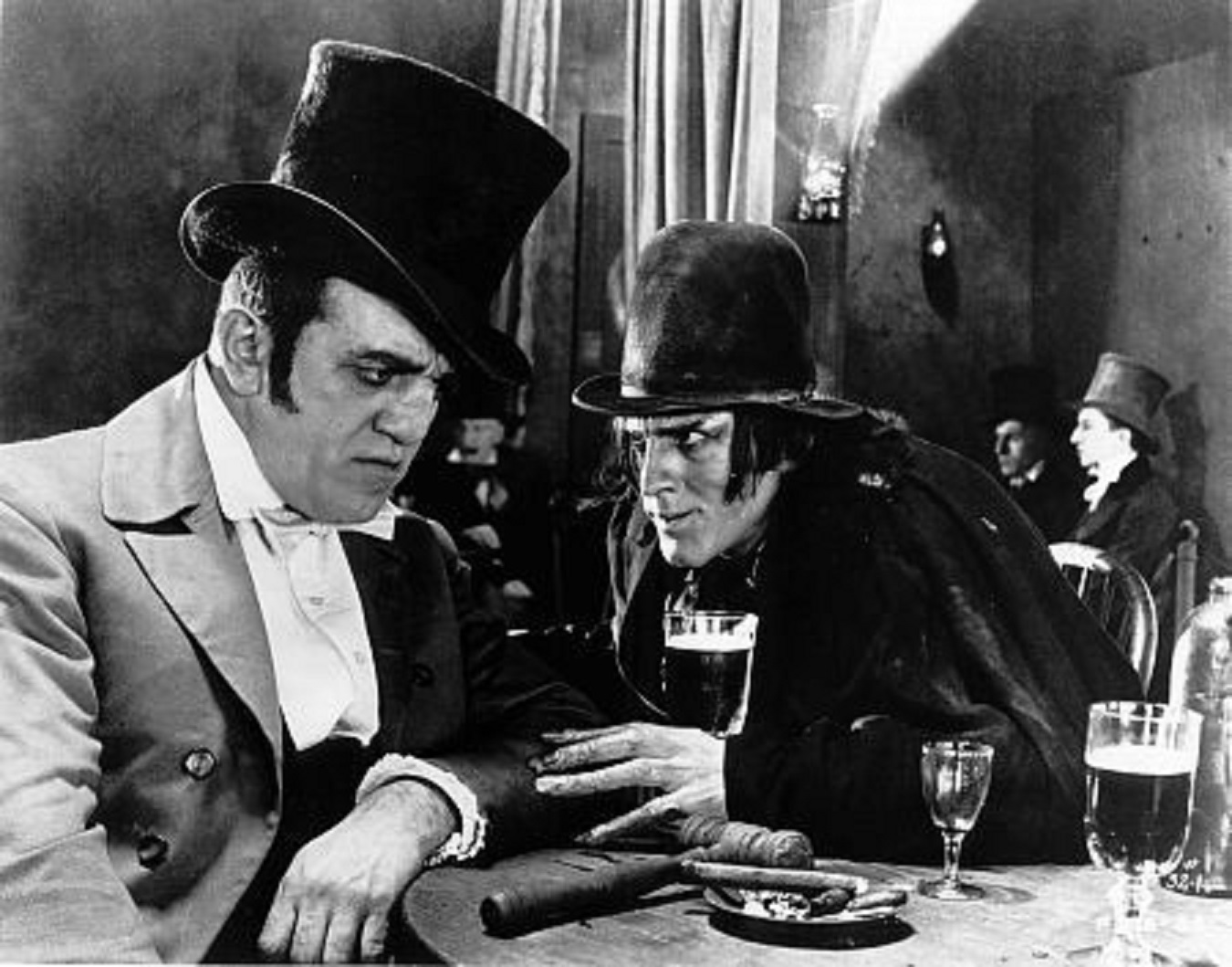 John Barrymore) and Louis Wolheim in Dr Jekyll and Mr Hyde (1920)