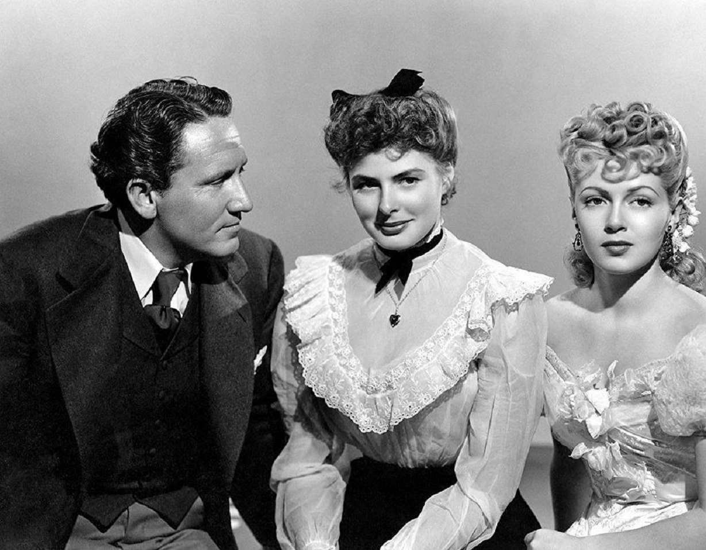 Spencer Tracy, Ingrid Bergman and fiancee Lana Turner