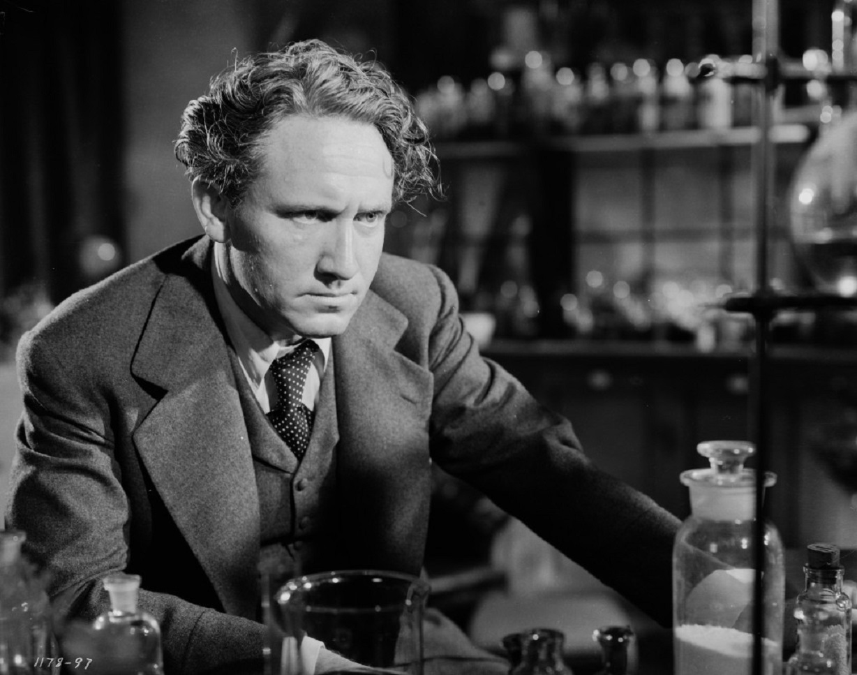 Spencer Tracy as Dr Jekyll in his laboratory in Dr Jekyll and Mr Hyde (1941)