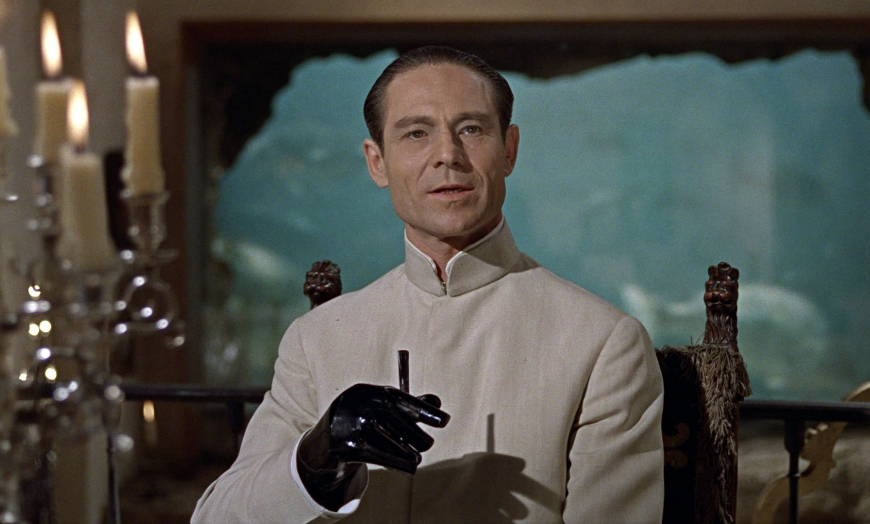 Joseph Wiseman as Dr No, the first of the Bond super-villains in Dr No (1962)