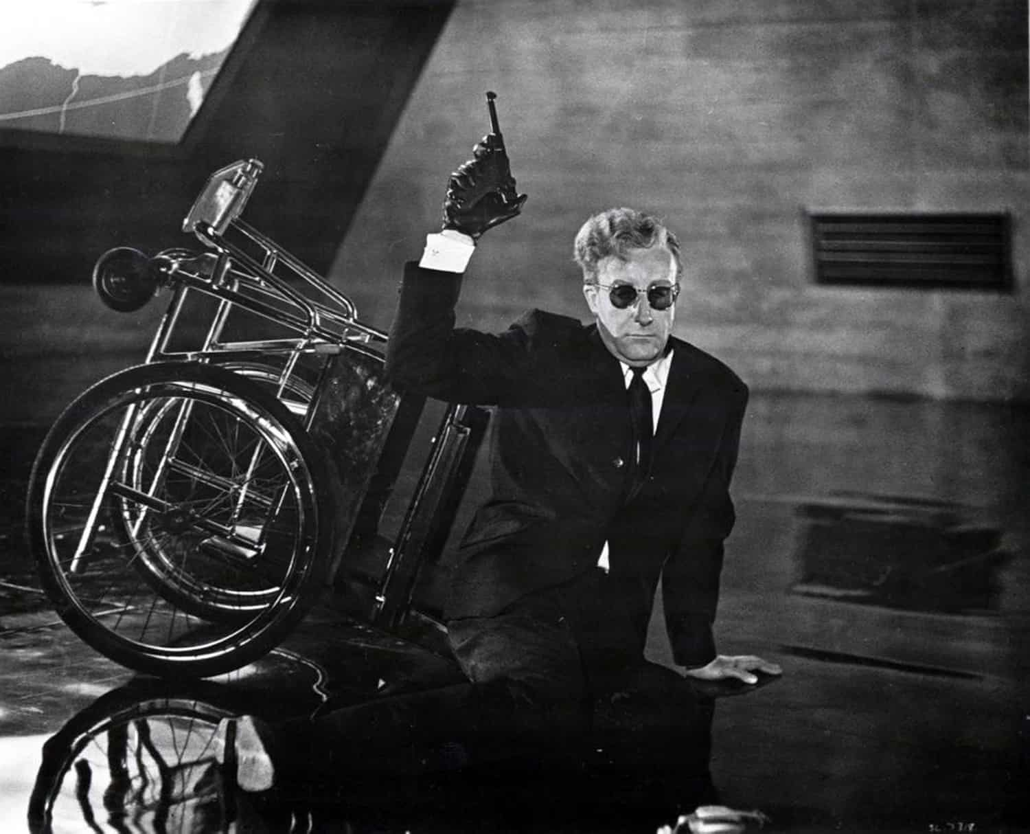 Peter Sellers as Dr Strangelove in Dr Strangelove or How I Learned to Stop Worrying and Love the Bomb (1964)