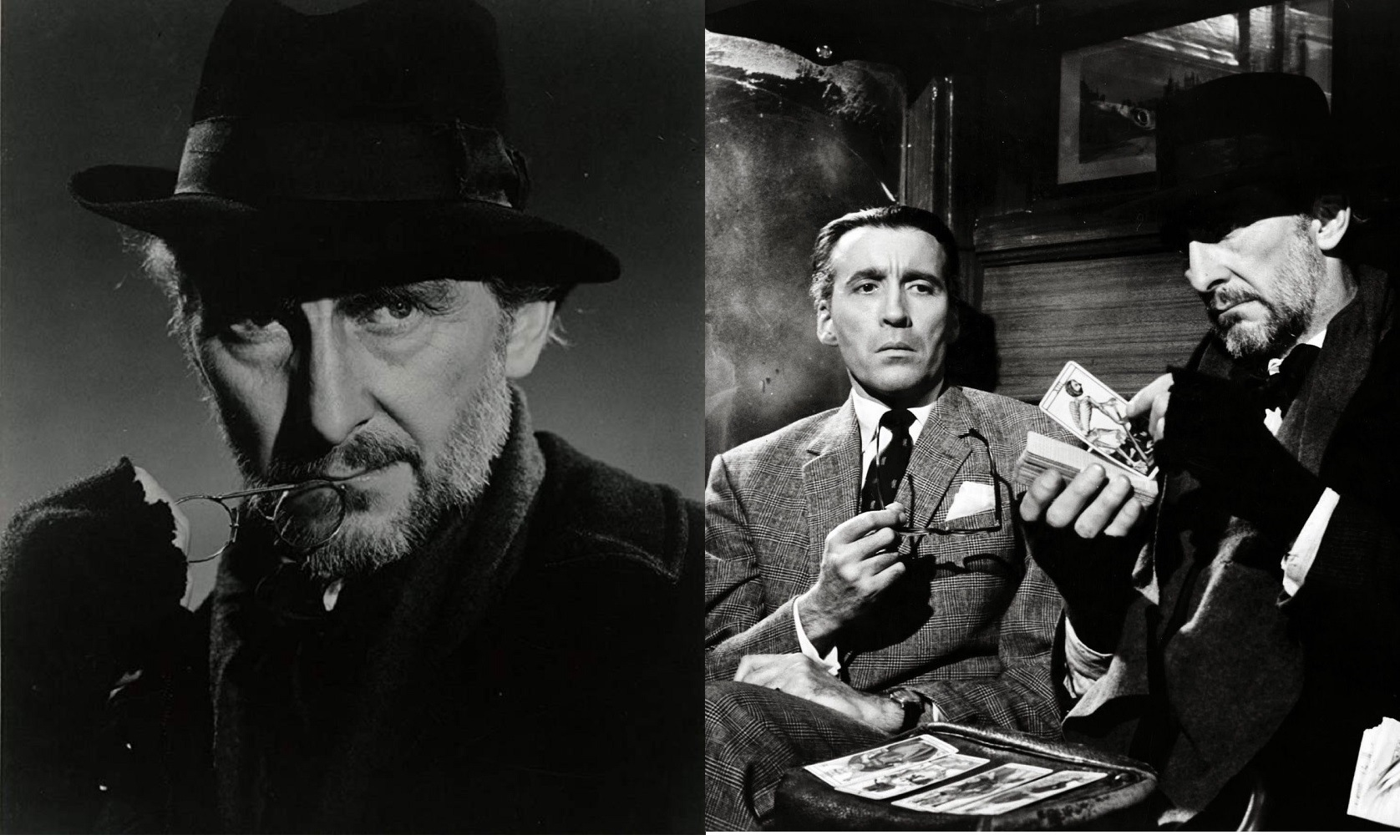 Peter Cushing, Christopher Lee in Dr Terror's House of Horrors (1965)