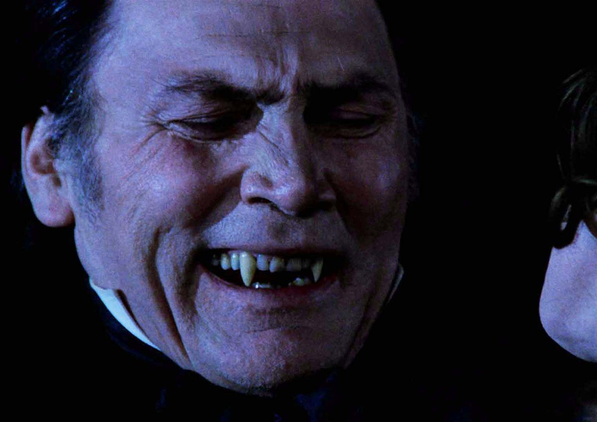 Dracula (Jack Palance) bares his fangs in Dracula (1974)