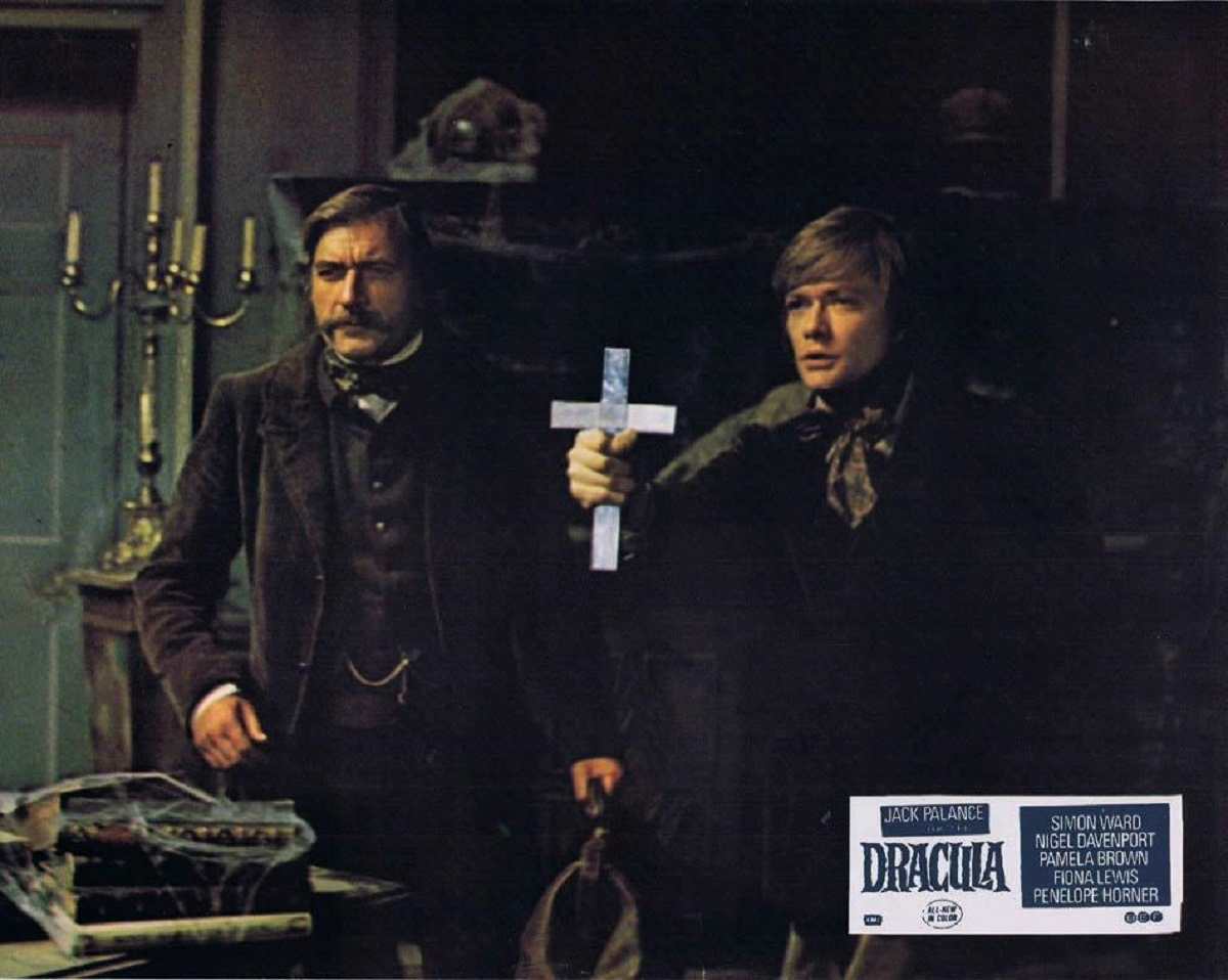 Vampires hunters - (l to r) Van Helsing (Nigel Davenport) and Arthur Holmwood (Simon Ward) in Dracula (1974)