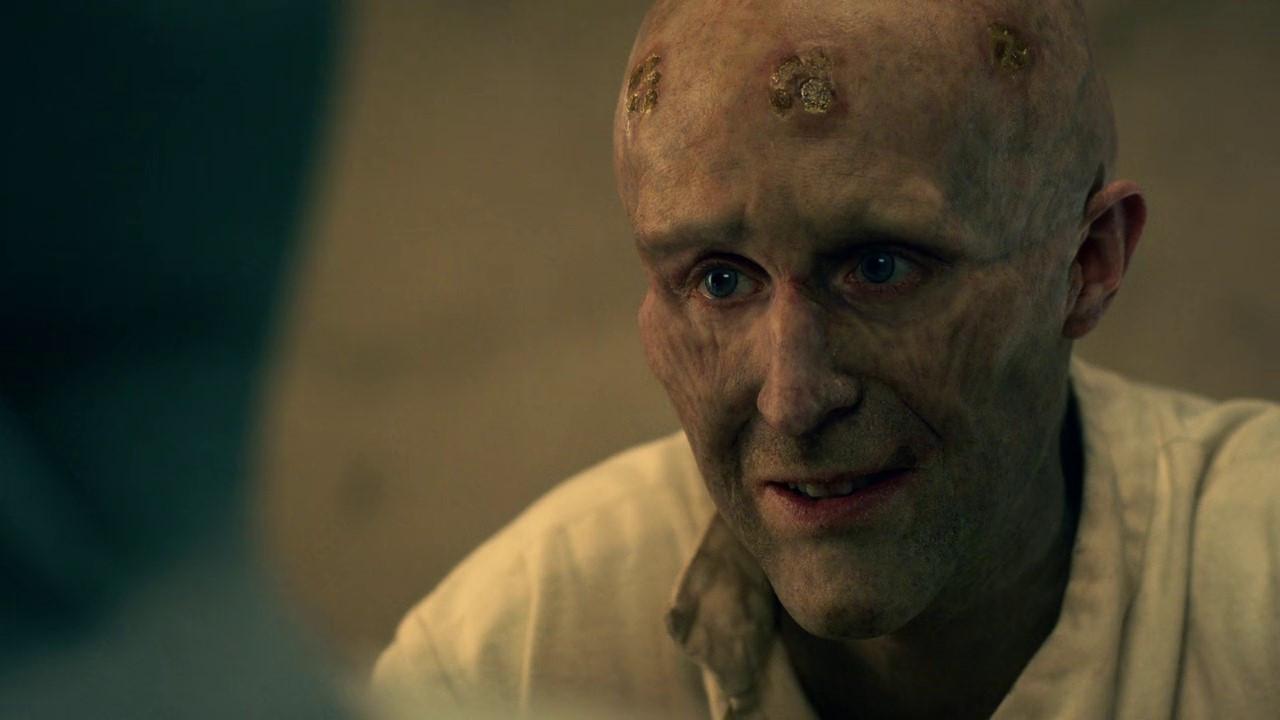 A deathly Jonathan Harker (John Heffernan) tells his story in Dracula (2020)