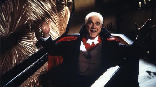 Leslie Nielsen as Count Dracula in Dracula: Dead and Loving It (1995)
