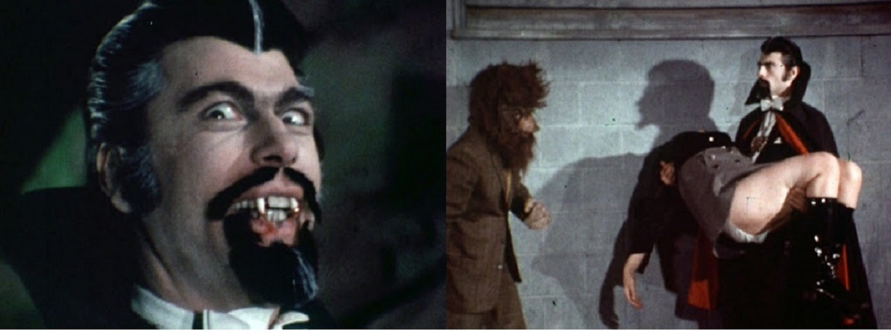 Vince Kelly as Dracula, Bill Whitton as Irving Jackalman in Dracula (The Dirty Old Man) (1969)