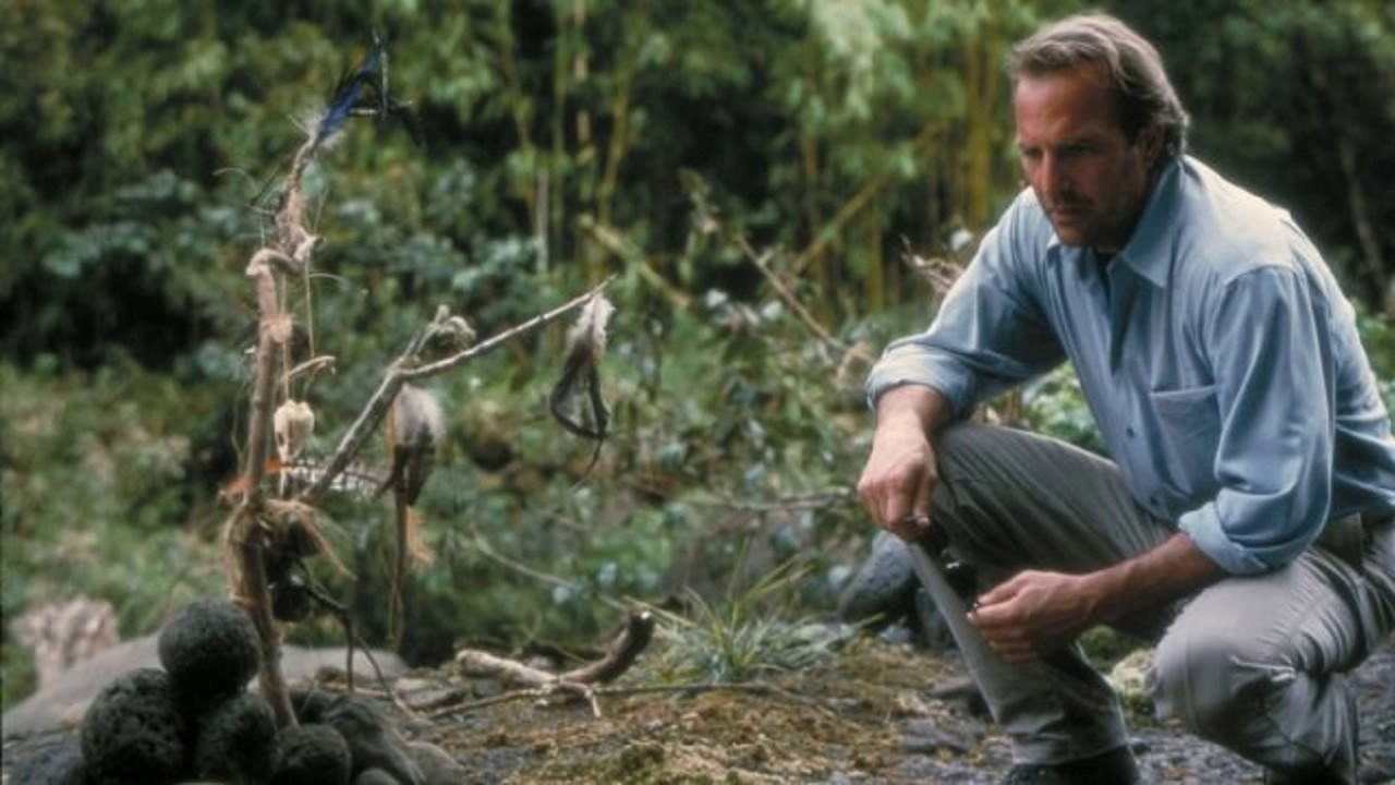 Kevin Costner visits his wife's grave in Dragonfly (2002)