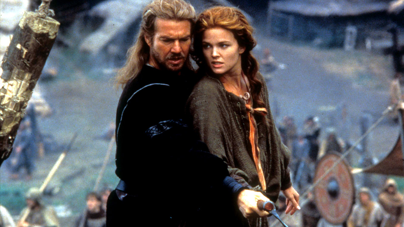Dennis Quaid as the former knight Bowen and Dina Meyer as Kara in DragonHeart (1996)