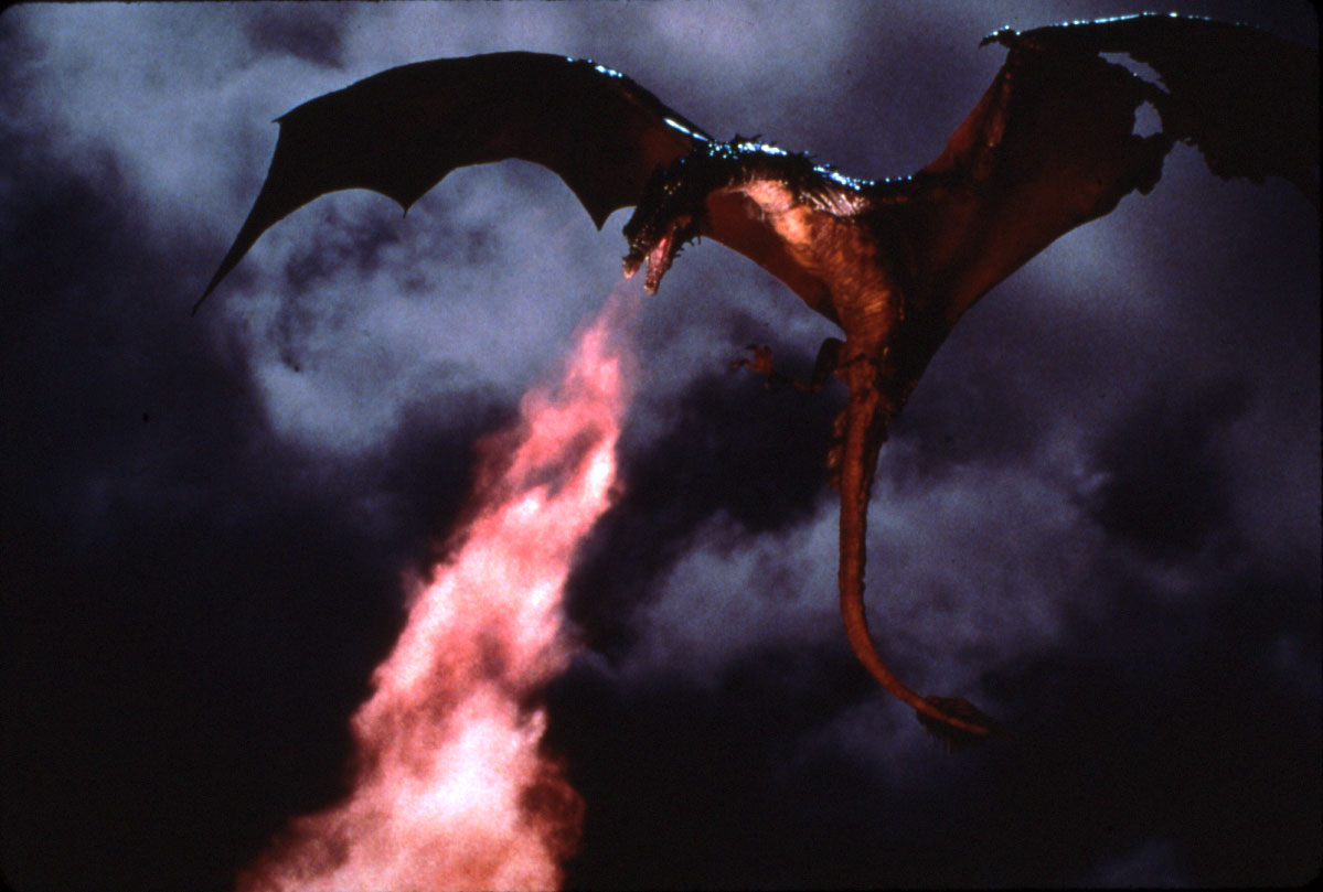 Stunning dragon effects courtesy of Industrial Light and Magic in Dragonslayer (1981)