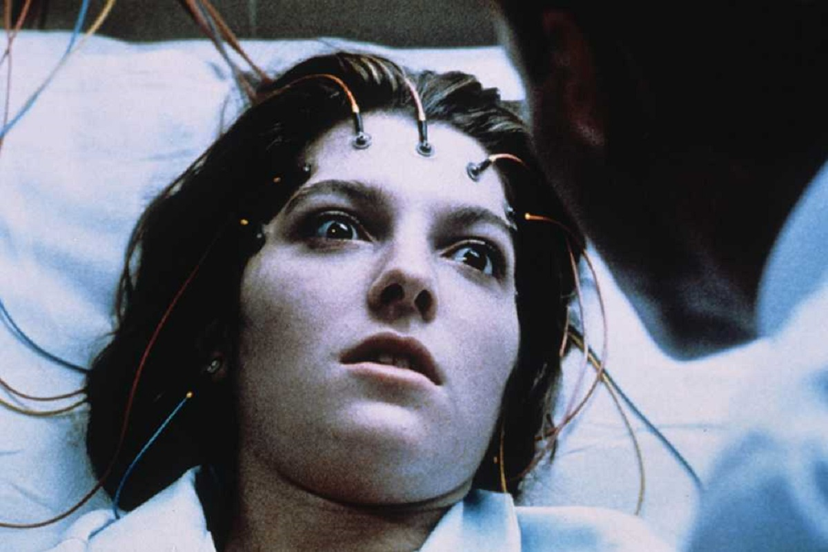 Jemma Redgrave experiencing nightmares in Dream Demon (1988)
