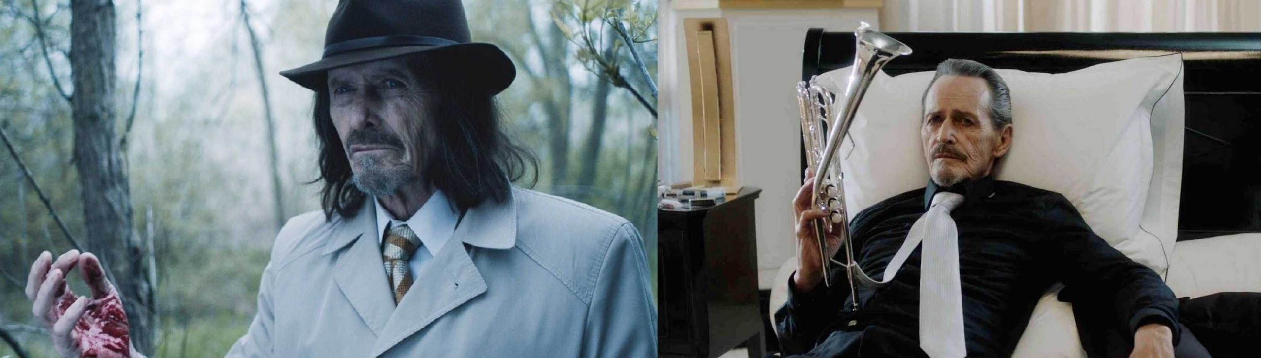 Stephen McHattie as Johnny Deadeyes and the Trumpet Player in Dreamland (2019)