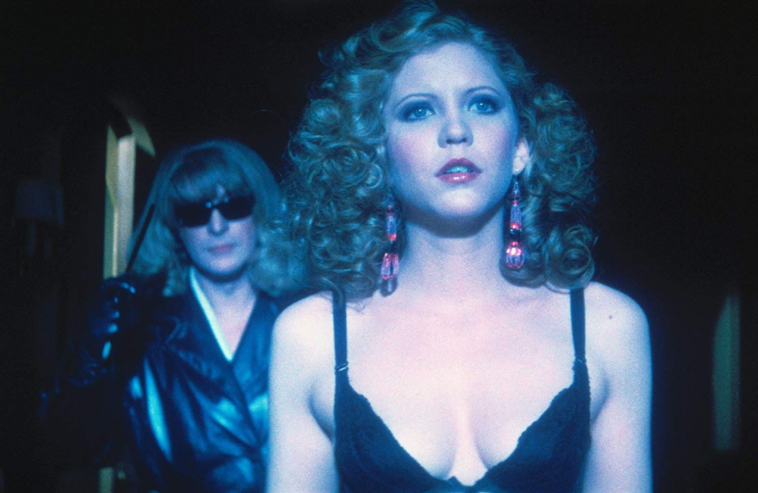 The prostitute Liz Blake (Nancy Allen) stalked by the transvestite killer in Dressed to Kill (1980)
