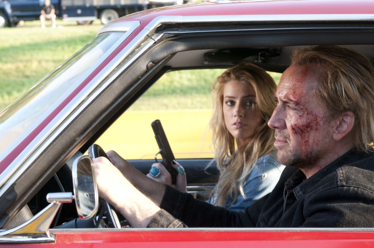 Nicolas Cage and Amber Heard in Drive Angry (2011)