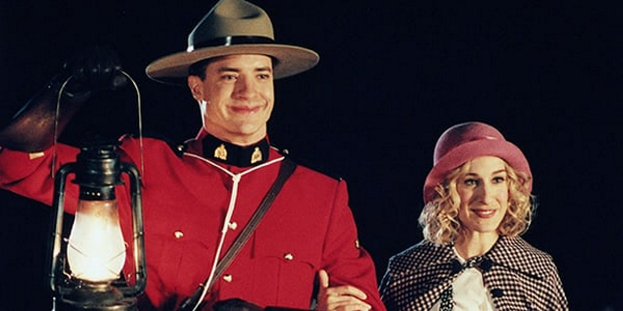 Dudley Do-Right (Brendan Fraser) and Nell Fenwick (Sarah Jessica Parker) in Dudley Do-Right (1999)