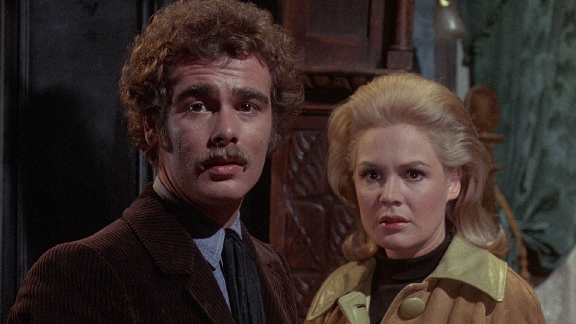 Wilbur Whateley (a young Dean Stockwell) and Sandra Dee in The Dunwich Horror (1969)