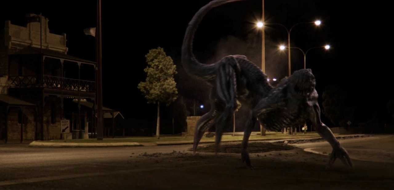 The alien monster in The Dustwalker (2019)