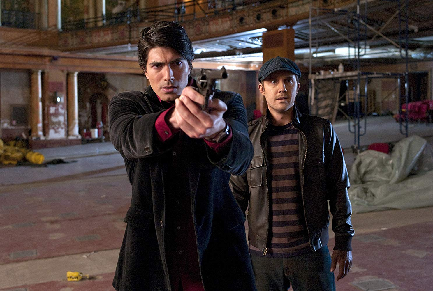 (l to r) Dylan Dog (Brandon Routh) and his zombified assistant Marcus Steckler (Sam Huntington) in Dylan Dog: Dead of Night (2010)