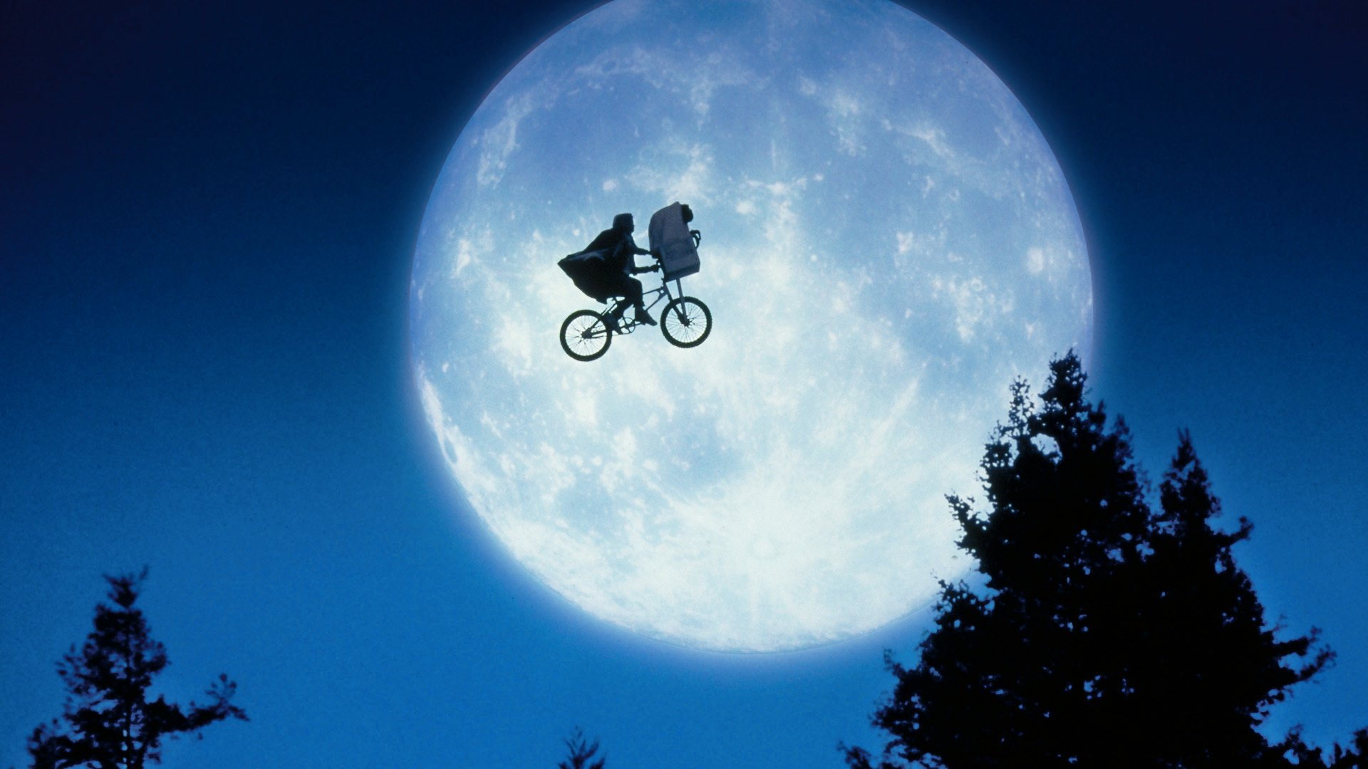 The flying bicycle in E.T. - The Extra-Terrestrial (1982)