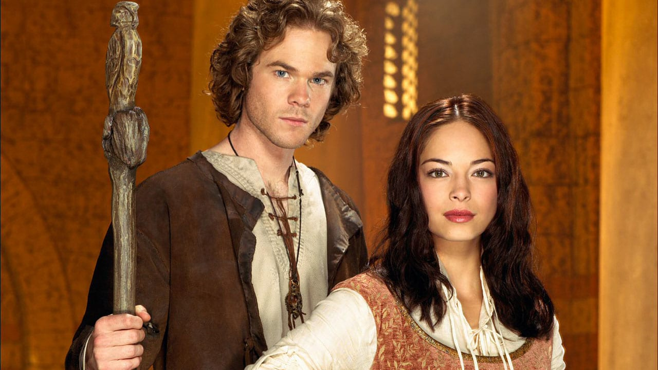 Shawn Ashmore as Ged/Sparrowhawk and Kristin Kreuk as Tenar in Earthsea (2004)
