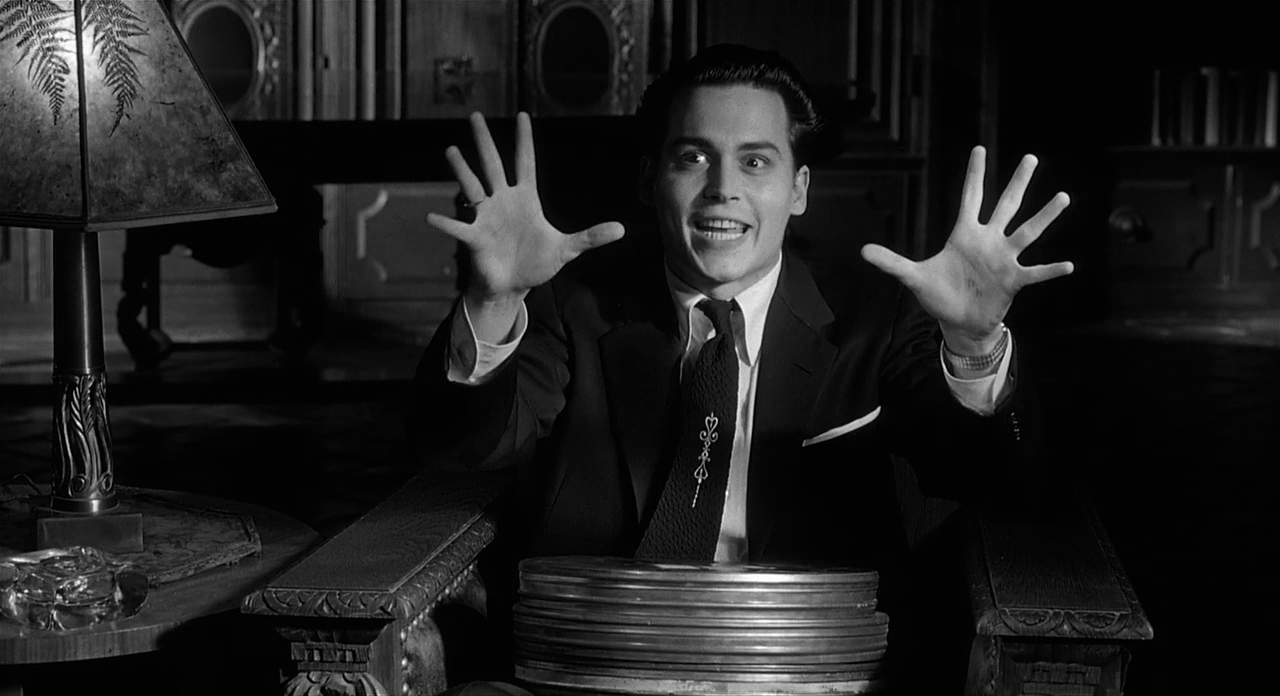 Johnny Depp as Edward D. Wood, Jr, the so-called world's worst director in Ed Wood (1994)