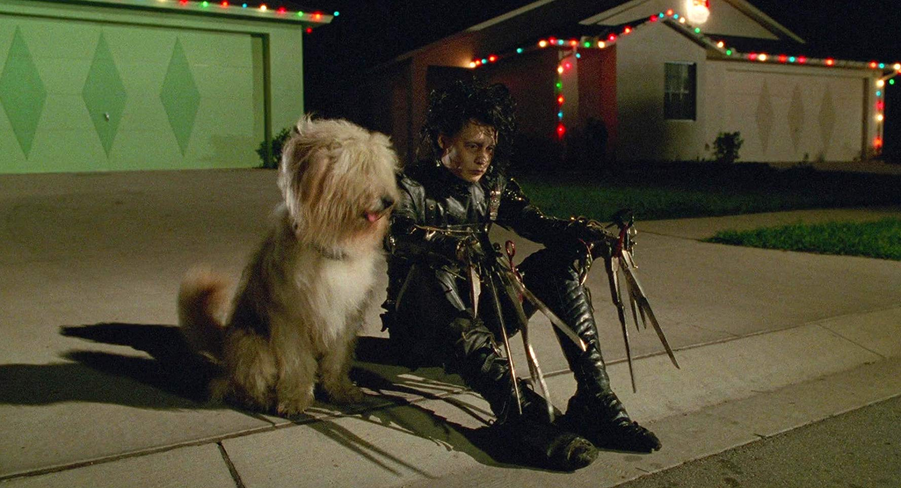Johnny Depp as the dejected Edward - Tim Burton's quintessential alienated outsider in Edward Scissorhands (1990)