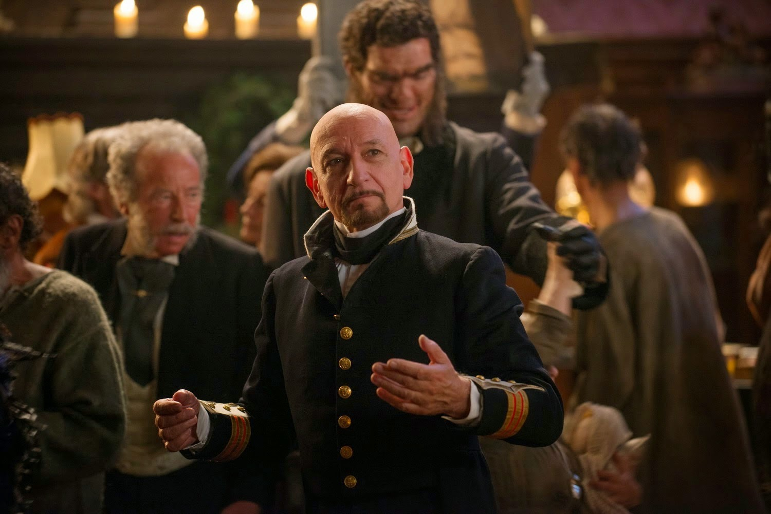 Ben Kingsley as the asylum head in Eliza Graves (2014)