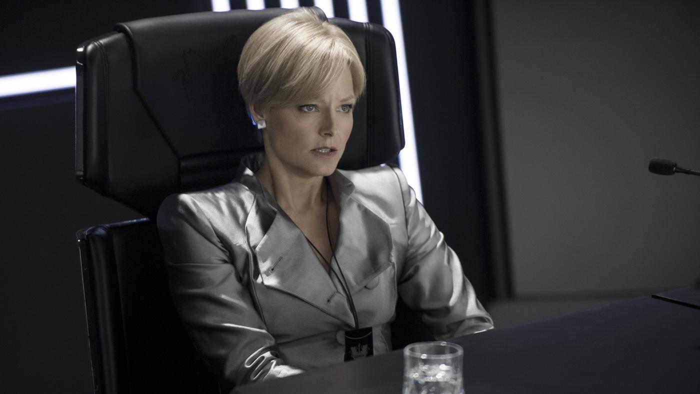 Jodie Foster as Defense Secretary Delacourt in Elysium (2013)