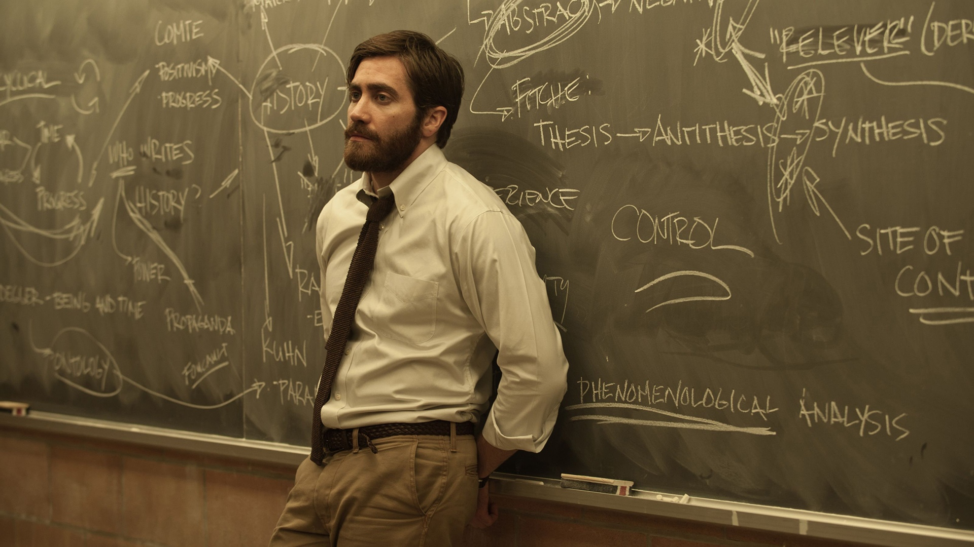 Jake Gyllenhaal as history professor Adam Bell in Enemy (2013)