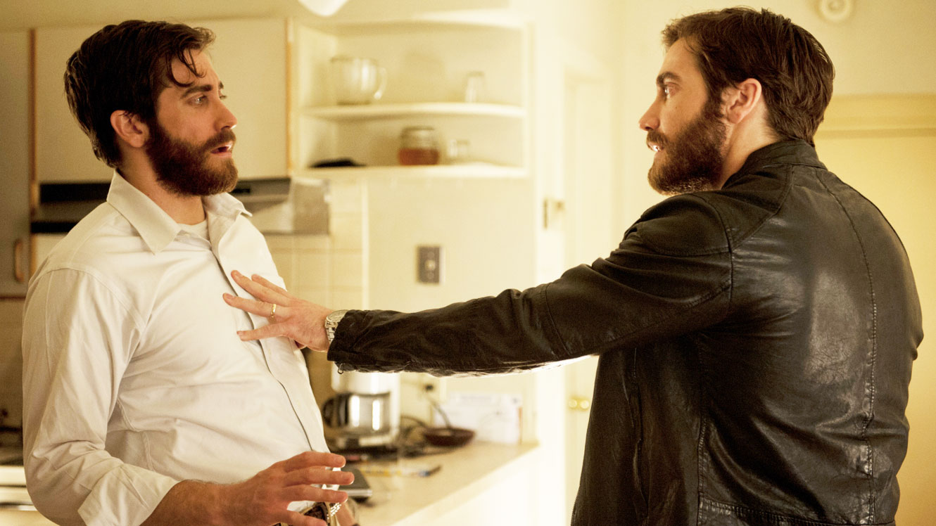 The two Jake Gyllenhaals confront one another in Enemy (2013)