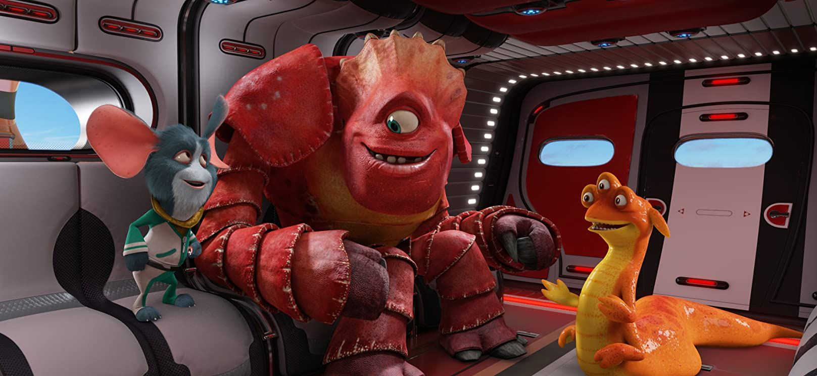 Doc (Voiced by Craig Robinson), Io (voiced by Jane Lynch) and Thurman (voiced by George Lopez) in Escape from Planet Earth (2013)
