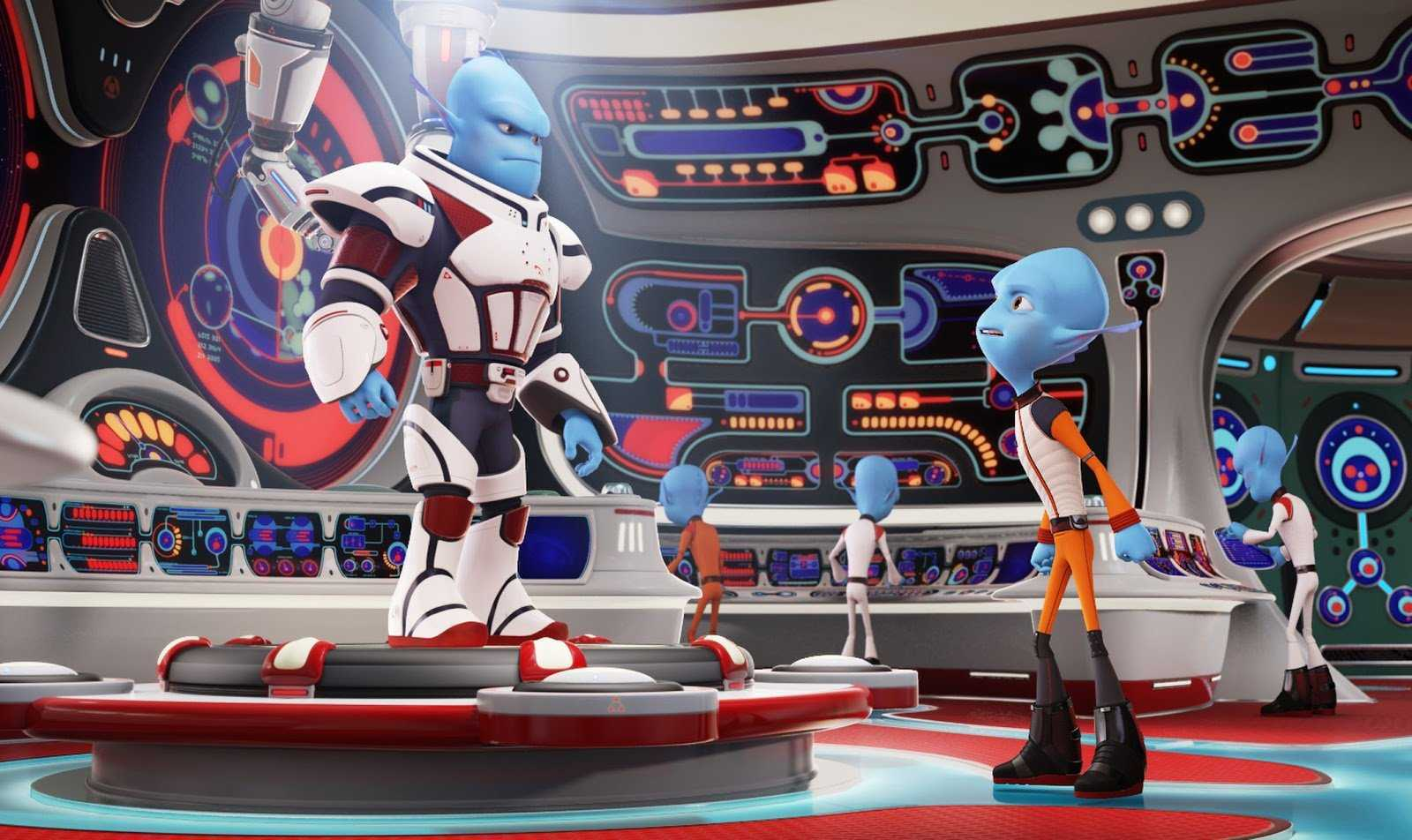 Scorch Supernova (voiced by Brendan Fraser) and his brother Gary (voiced by Rob Corddry) in Escape from Planet Earth (2013)