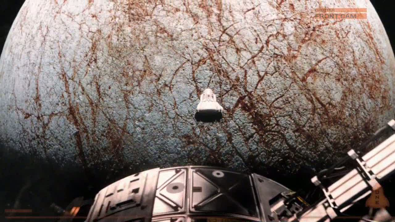 Launching the capsule to land on Europa in Europa Report (2013)