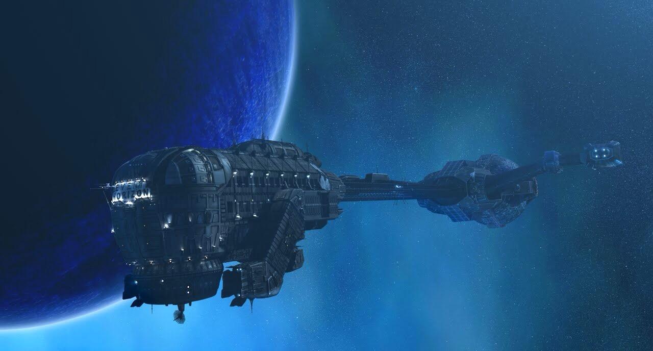 The spaceship Event Horizon in Event Horizon (1997)