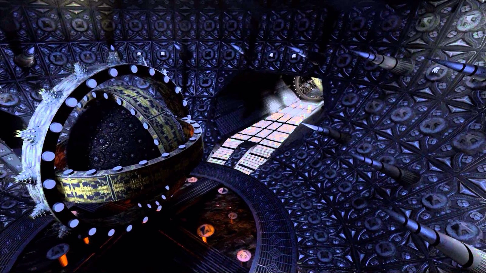 The beautifully Gothic sets - the warp drive core in Event Horizon (1997)